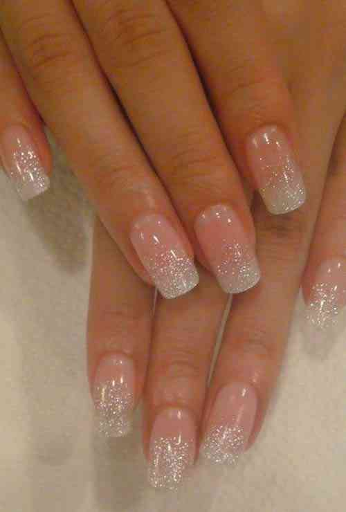 Glitter French Manicure Nail Art