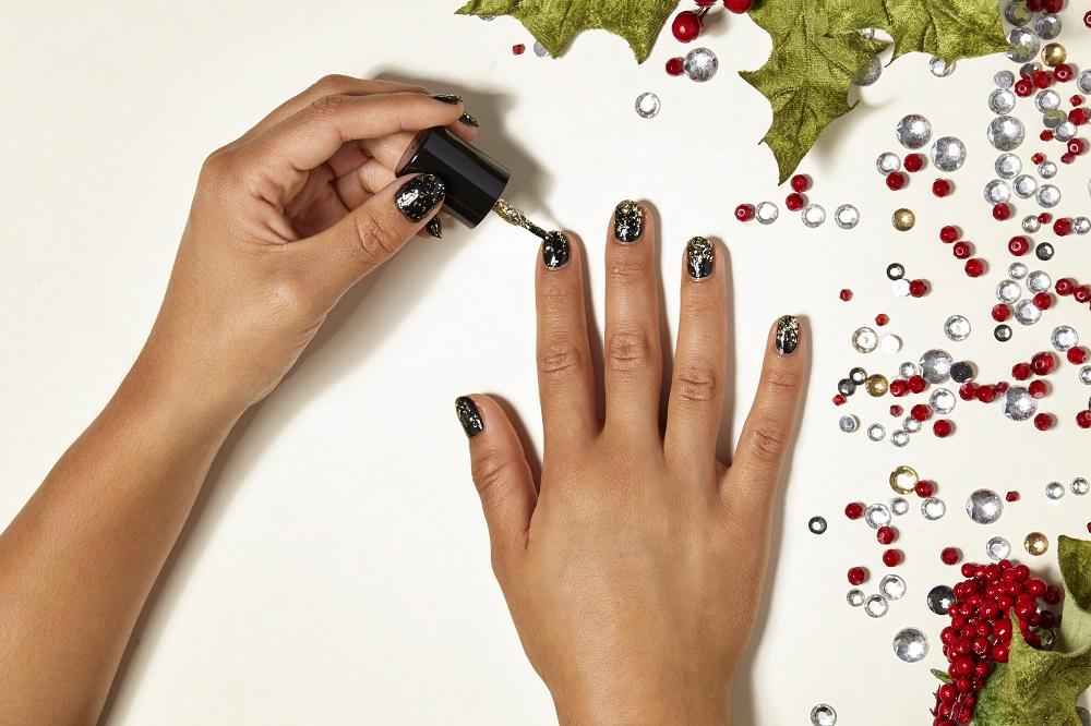 Glitter-Nail designs