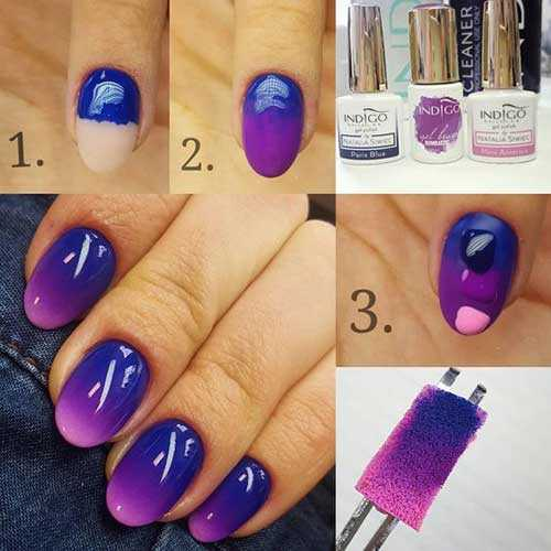 bright gel Ombre Designs