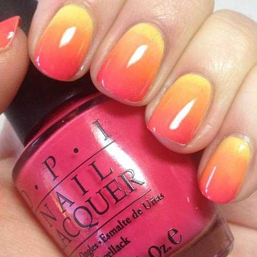 sunshine ombre nails design
