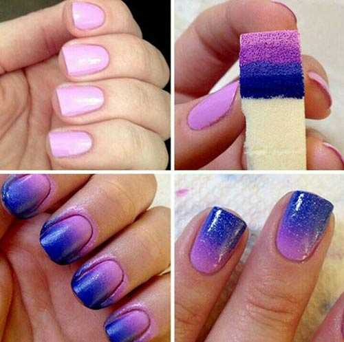 purple ombre art