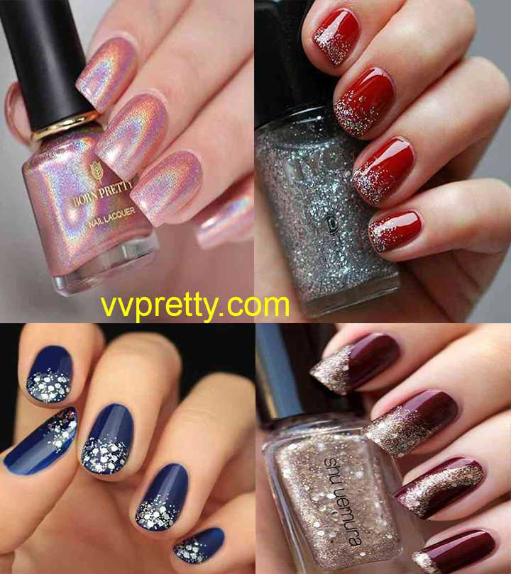 glitter ombre nails designs