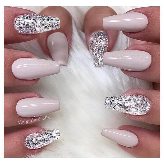 Ultimate Sparkle Diamond and Pink Coffin Nails