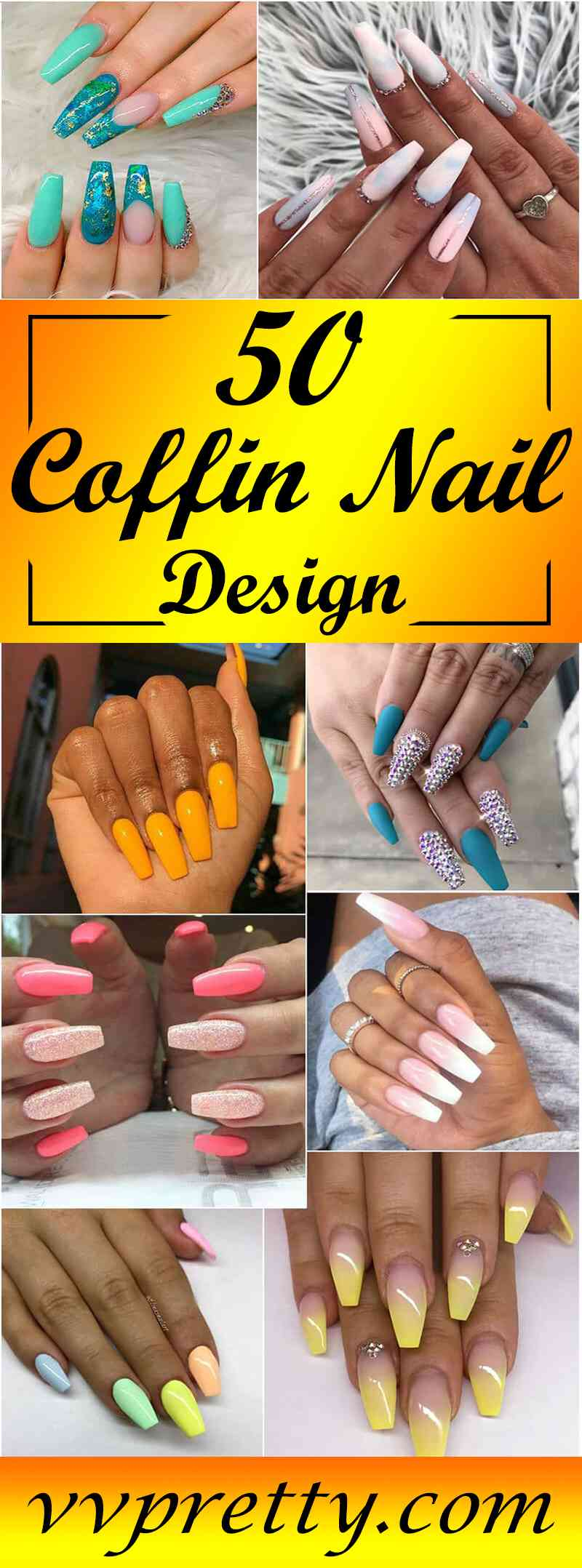 Best Coffin nails Design Ideas