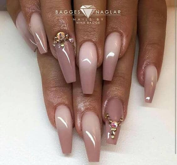 Natural Ombre With A Sparkle Detail-vvpretty