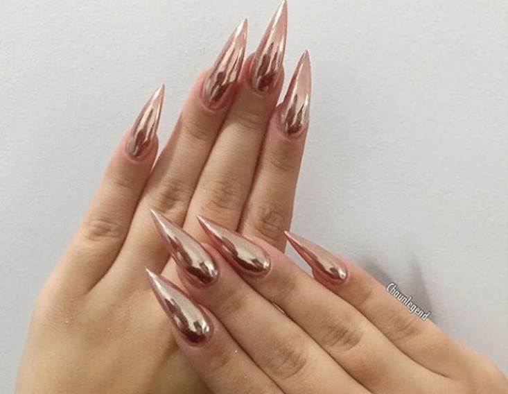 Chrome Hearts Stiletto Nail Designs