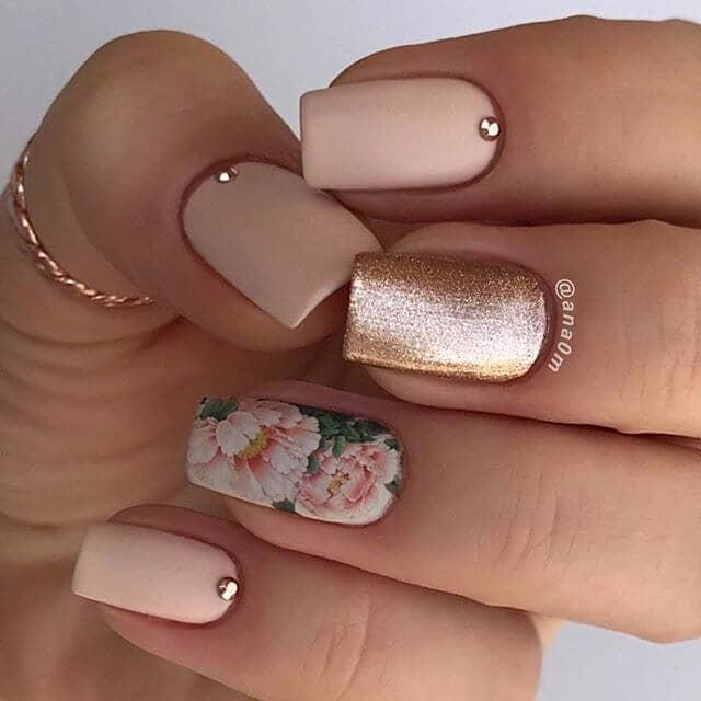 Pink Peony Designer Nail Art-idea-vvpretty