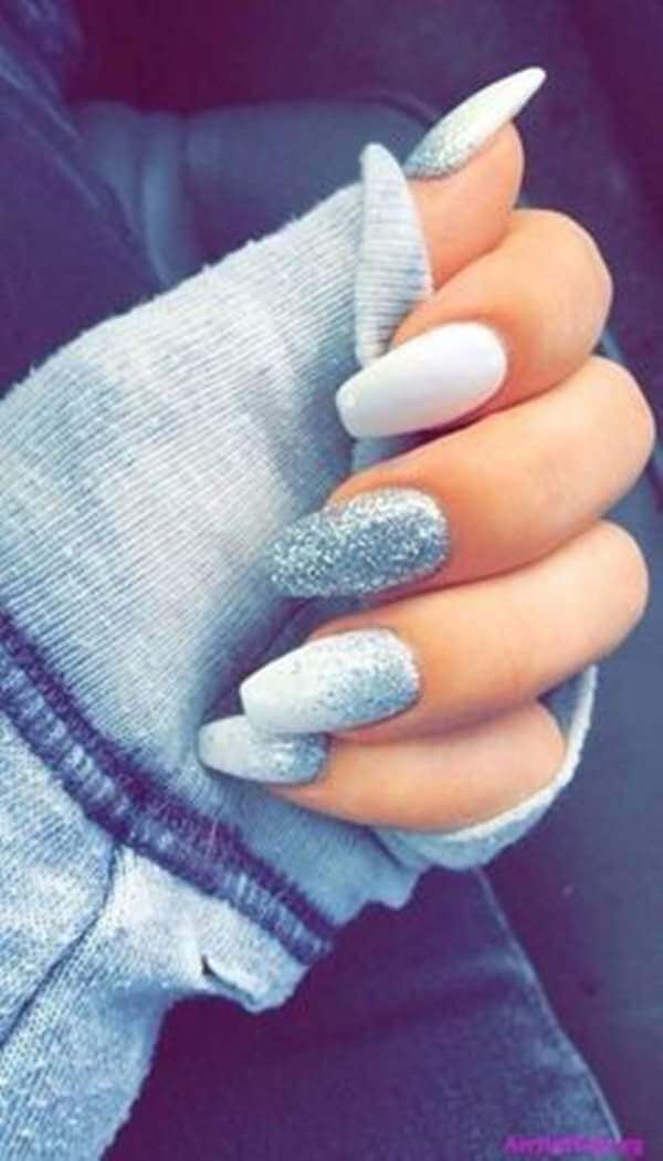 Creative Ice Frosted Nail Art-vvpretty