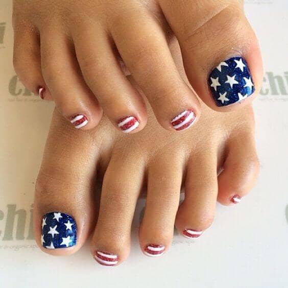 feet nails ideas