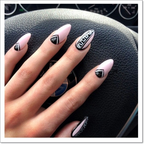 Tribal-Stiletto Nail Designs vvpretty