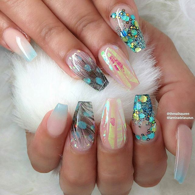 Broken Glass Nails-vvpretty