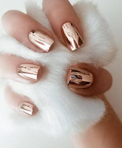 Bronze Short Nail Designt