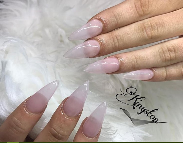Crystal Clear Stiletto Nail Designs vvpretty
