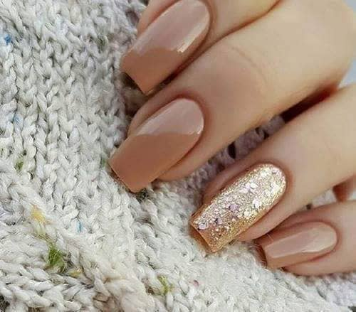 Butterscotch and Gold Best Acrylic Nail-vvpretty