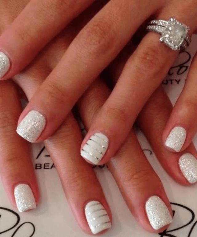 Glitter and Sparkle Make White Nails Speak