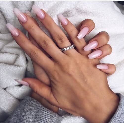 Long and Clear Acrylics-acrylic-nail-color-vvpretty