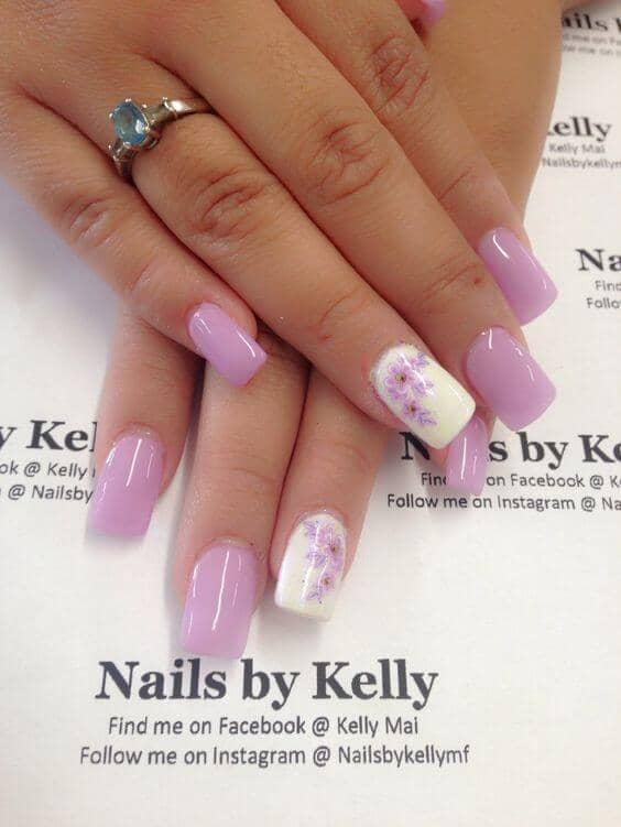 Lovely Lilacs Grace Lavender Nails vvpretty gel nail