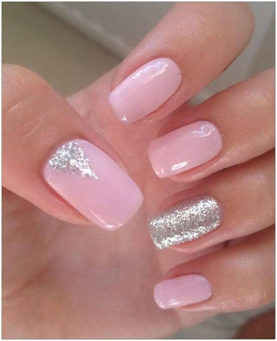 Pink and Glitter Silver Bring Happiness vvpretty