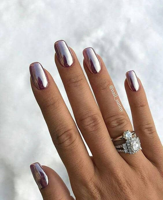 Metallic Artificial Nail Designs-vvpretty