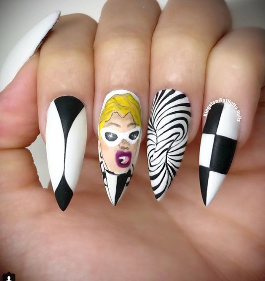 Money Moves Stiletto Nail Designs vvpretty
