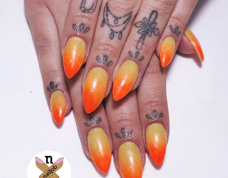 Accent Nail Stiletto Nail Designs vvpretty