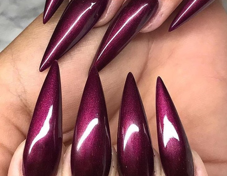 Magic Magenta Stiletto Nail Designs vvpretty