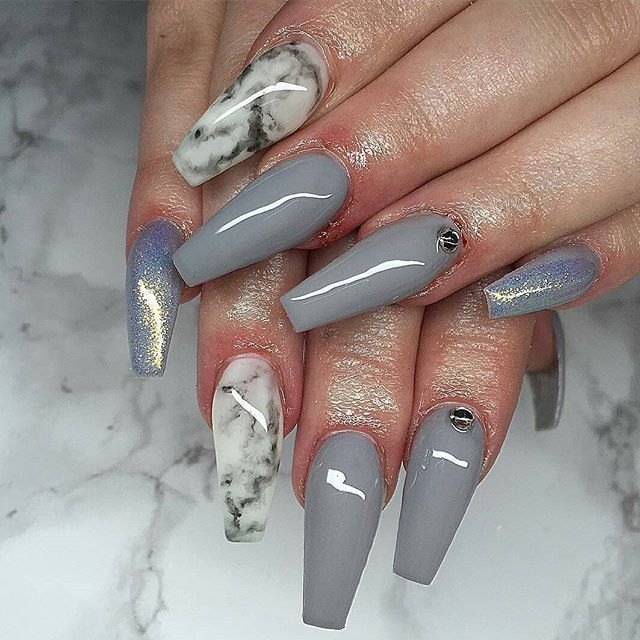 Nails with Marble touch vvpretty