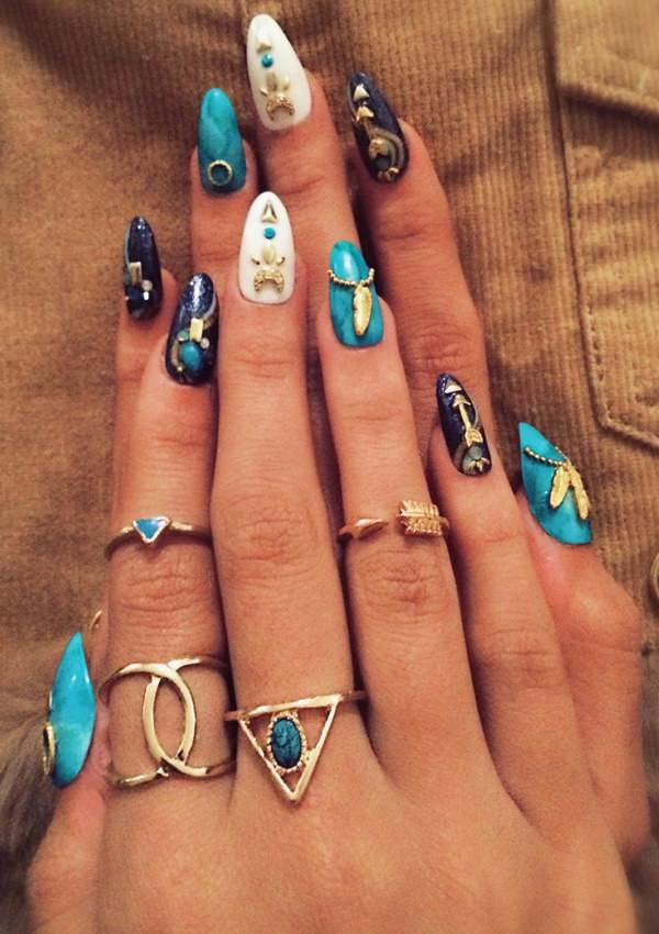 Egyptian Queen-Stiletto Nail Designs vvpretty