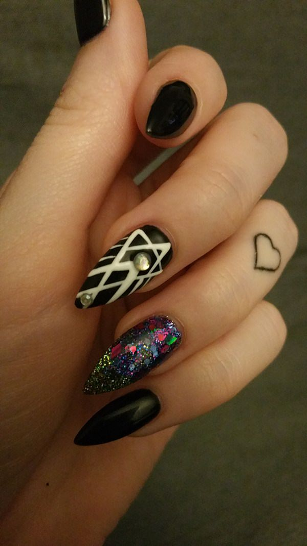Mesmerizing Kaleidoscope-Stiletto Nail Designs vvpretty