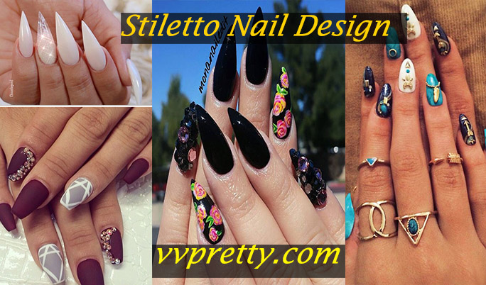 Stiletto nail design 2019 vvpretty